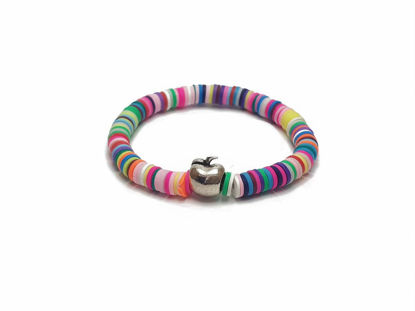 Picture of Candy Loop with blue, white, red, orange, green and metallic apple for main element